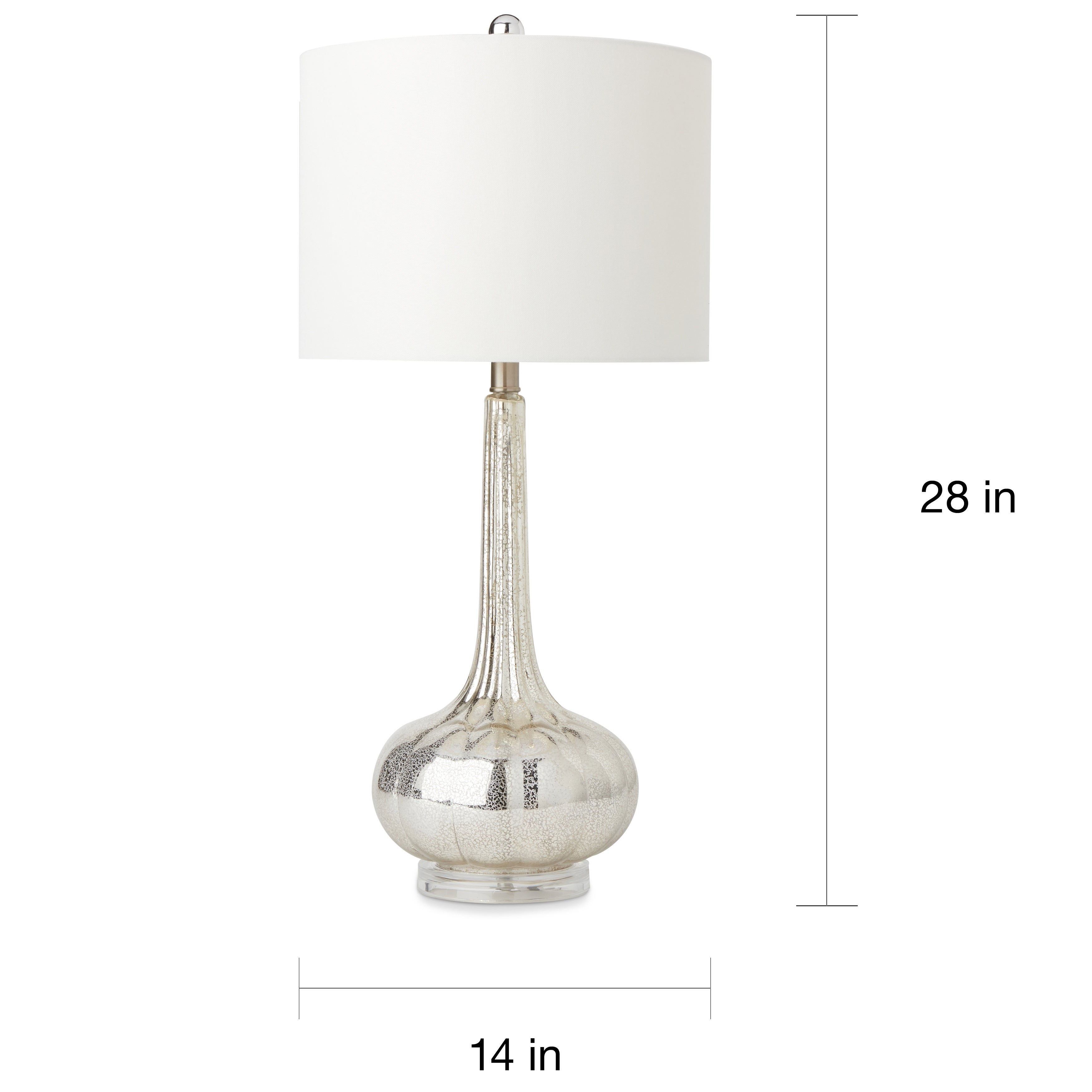 Popular Abbyson Silver Mercury Antiqued Glass Table Lamp (Set of 2) - Free  DC44
