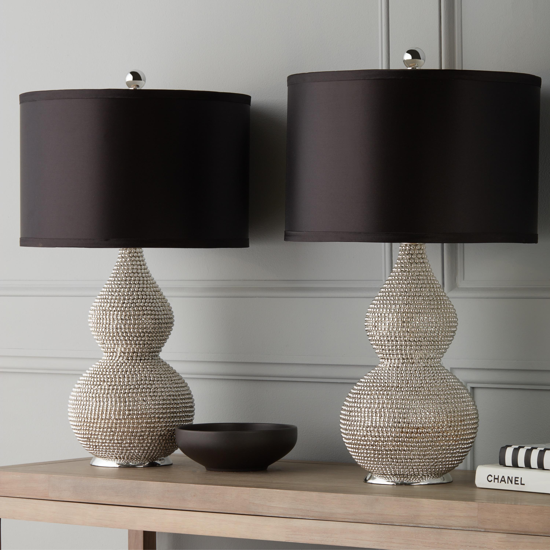 Shop Abbyson Silvertone Sea Urchin 26 Inch Table Lamp Set Of 2