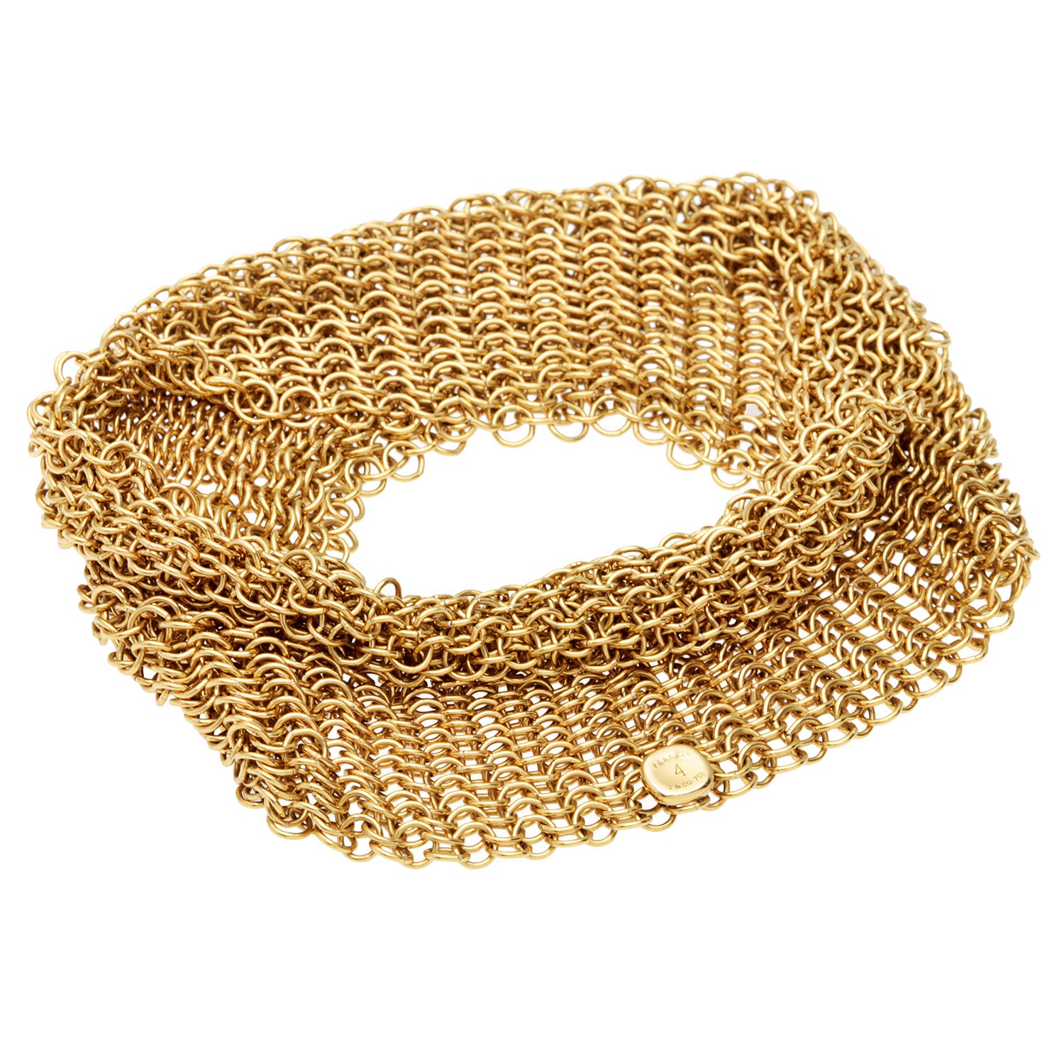 6259e8cb5 Shop Pre-owned 18K Yellow Gold Elsa Peretti Mesh Bracelet by Tiffany & Co.  - Free Shipping Today - Overstock - 9626120