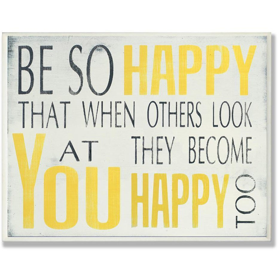 Be So Happy Typography Wall Plaque - Free Shipping On Orders Over ...