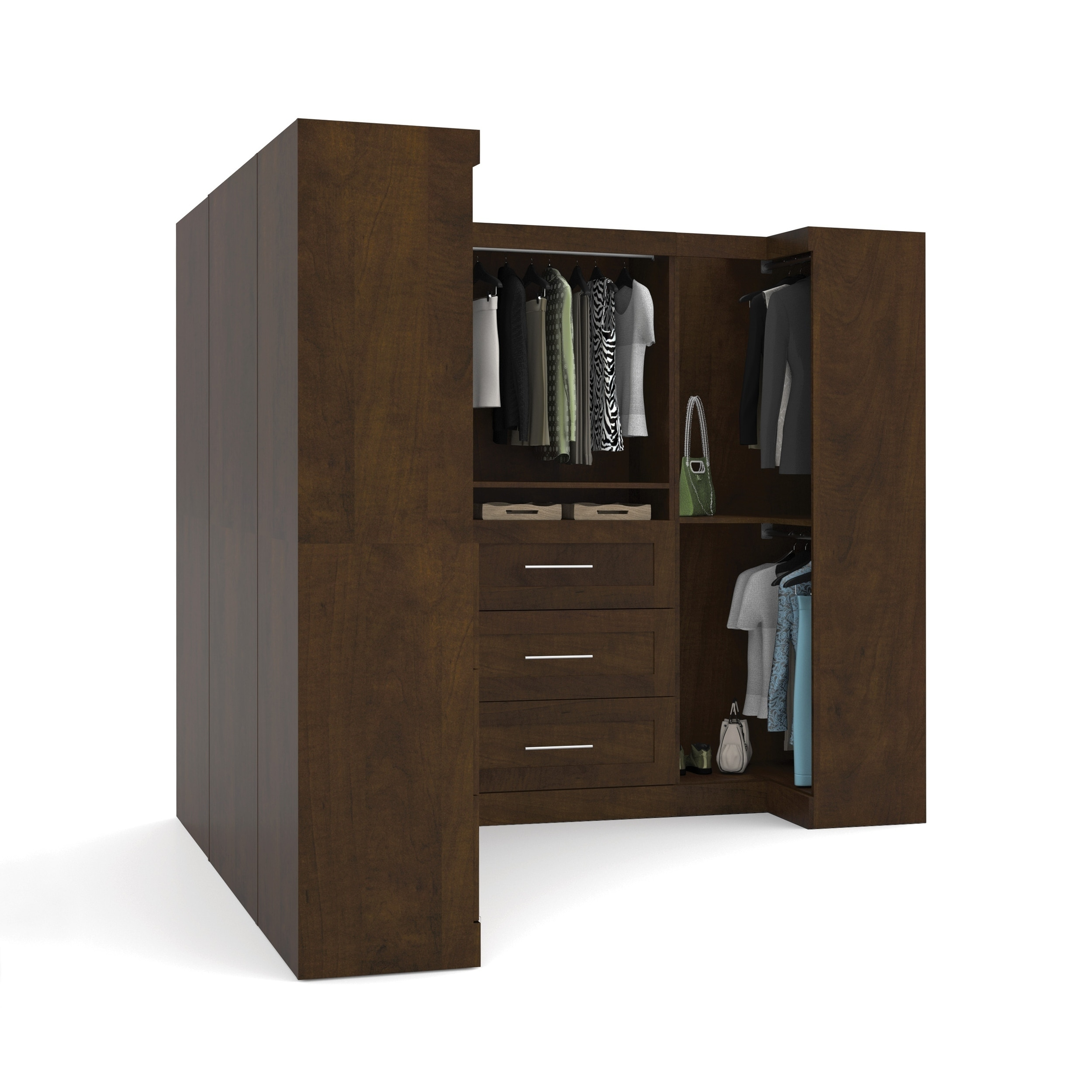 Merveilleux Shop Pur By Bestar Optimum Corner Walk In Closet Organizer Set   Free  Shipping Today   Overstock.com   9626748