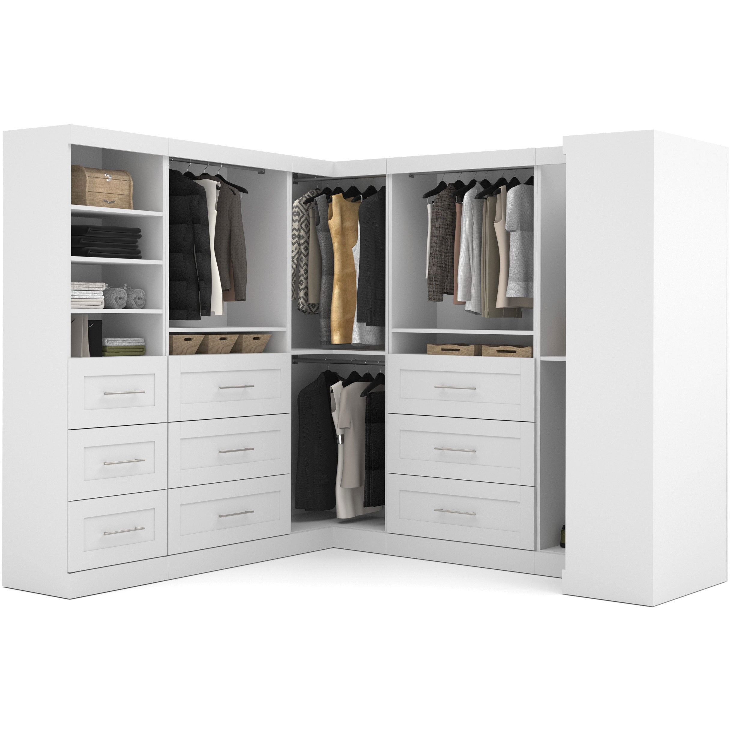 Pur By Bestar Optimum Corner Walk In Closet Organizer Set   Free Shipping  Today   Overstock   16812744