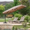 Outdoor Yuma Folding Canopy Umbrella with Base by Christopher Knight Home