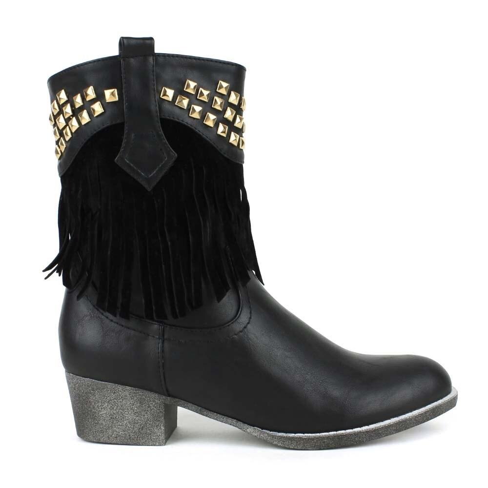 451872cebbd40 Mark and Maddux Women's 'Poppy-06' Studded Fringe Western Boots