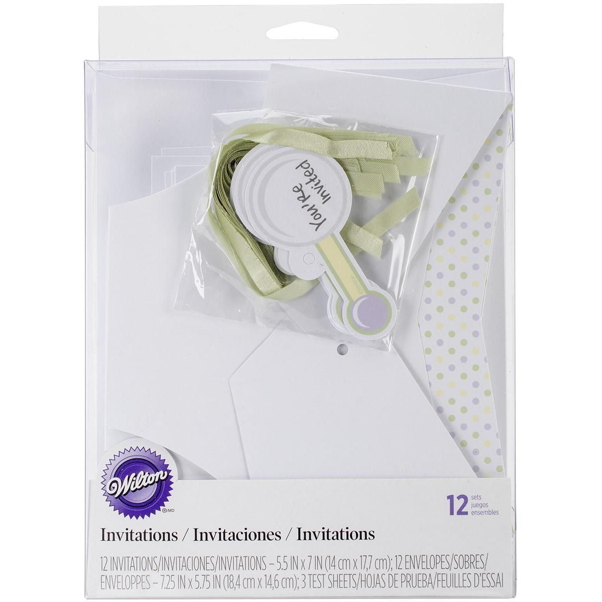Baby Shower Invitations/Envelopes 12/Pkg-Diaper Shape - Free ...