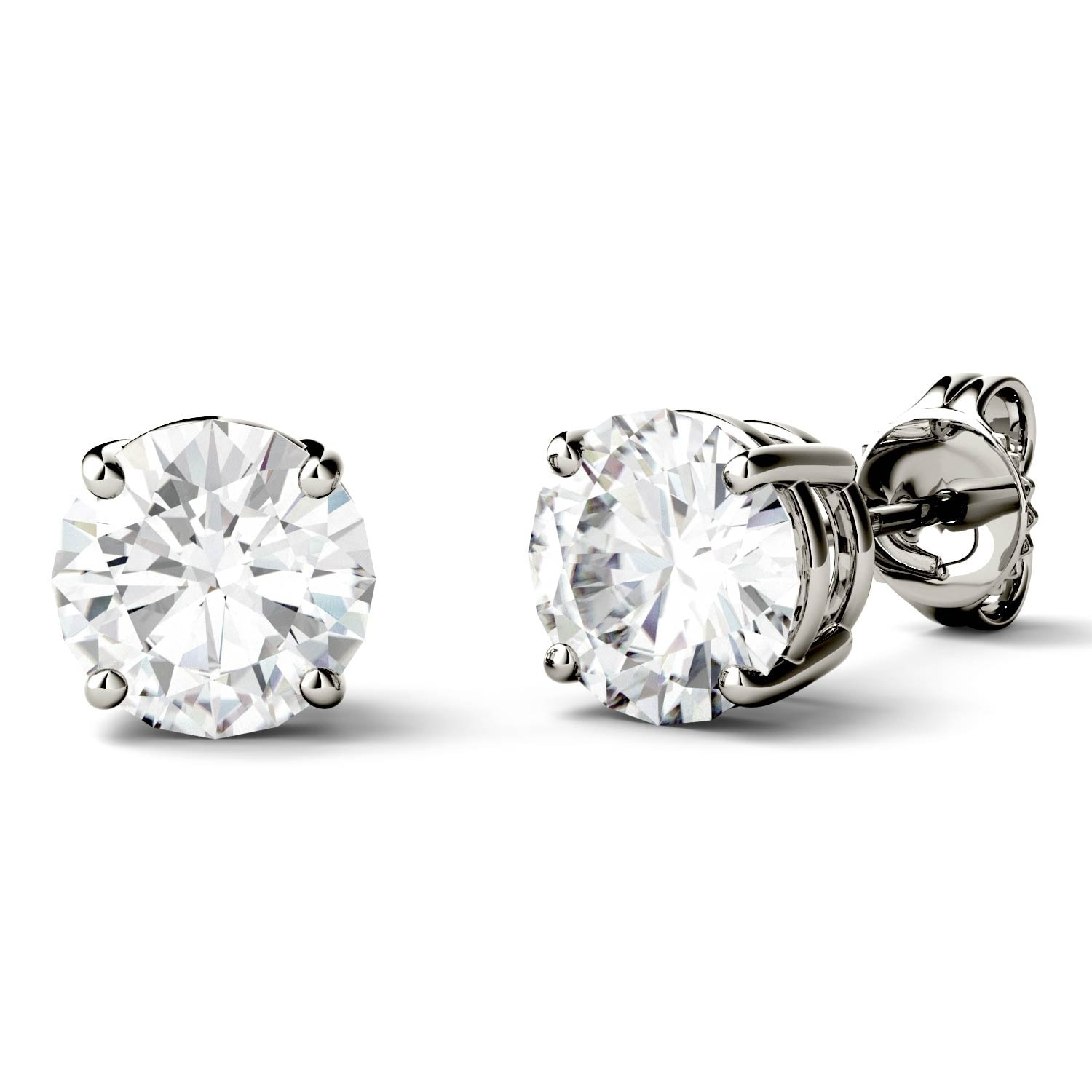 forever colvard amazon cut dp by earrings jewelry round stud classic com charles brilliant dew moissanite