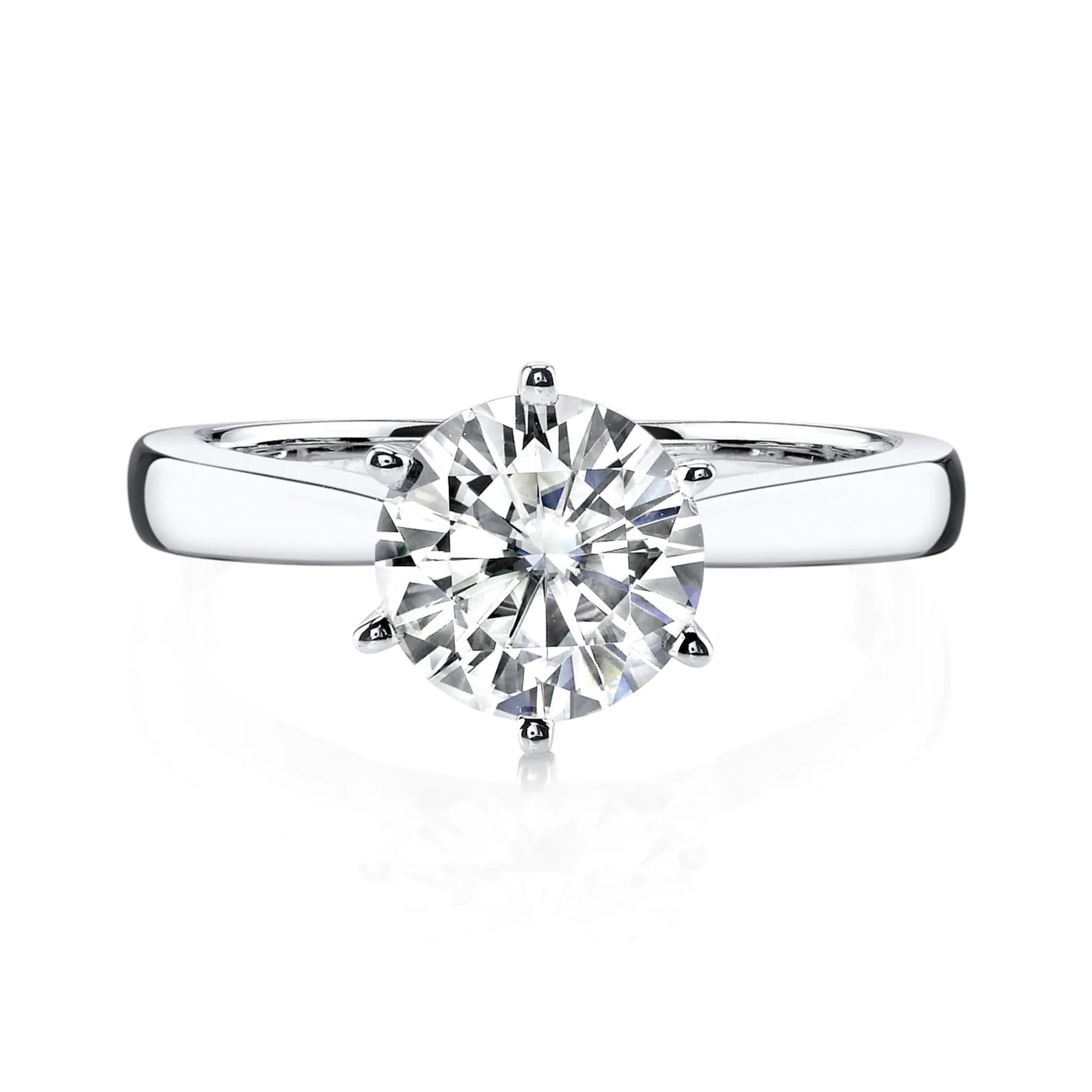 Real 14k White Gold Ring 1.90 Ct Diamond Solitaire Engagement Band Sets Size N Clearance Price Other Fine Rings