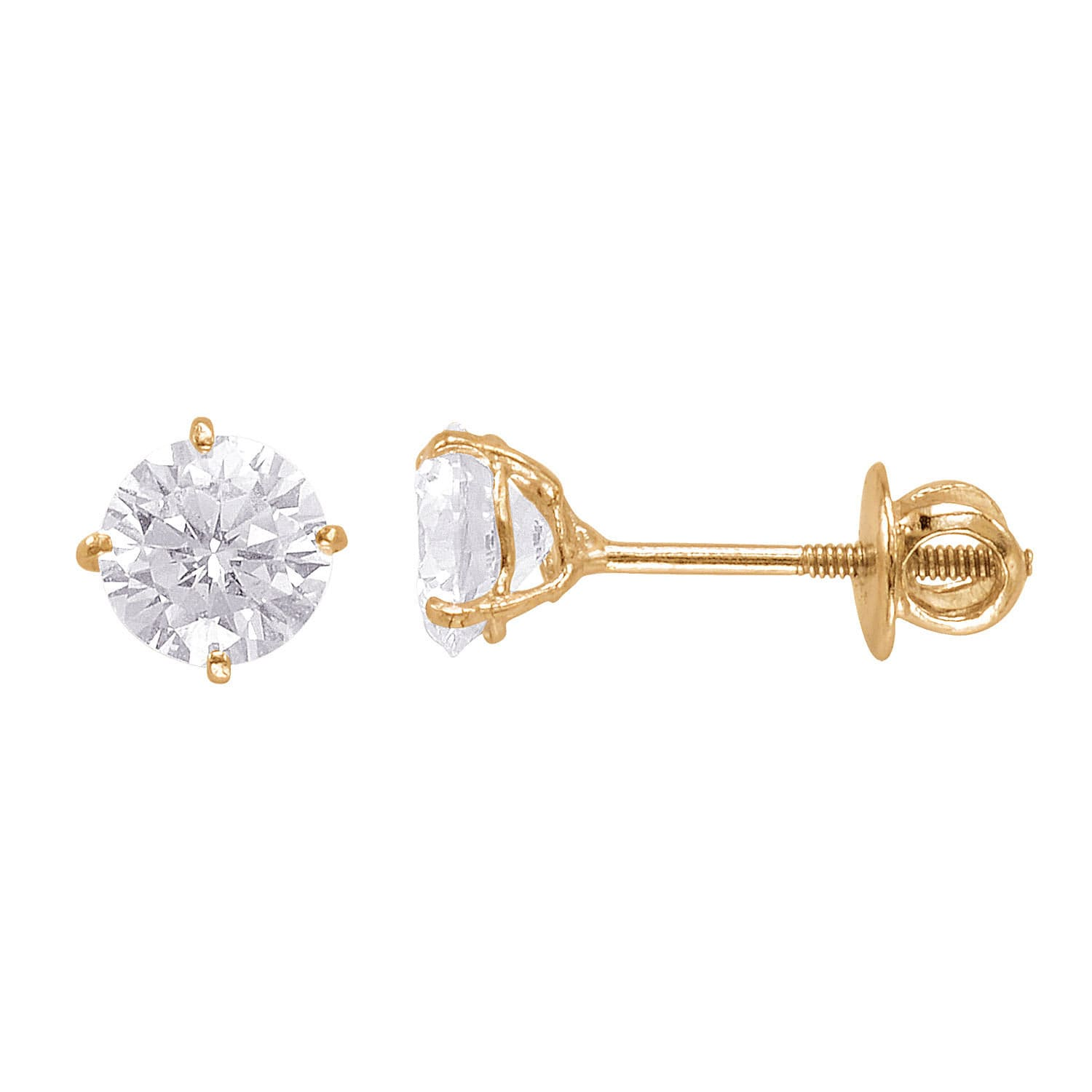 jewelry extra pushback millimeters post yellow stud gold long earrings ball amazon icedtime dp mm com