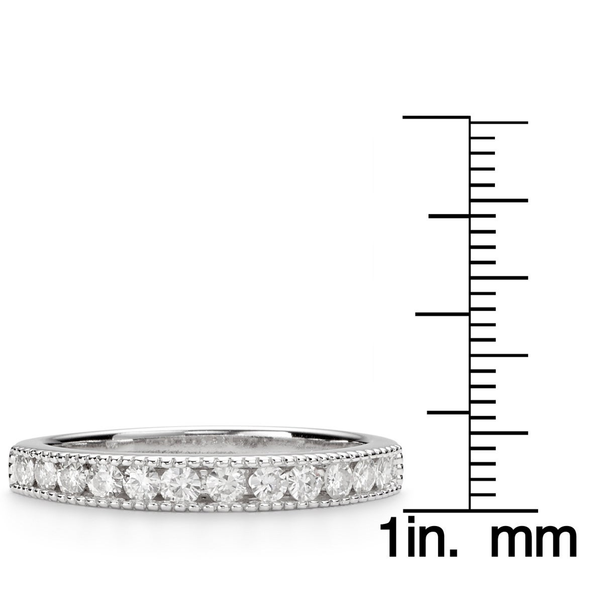 Shop Charles & Colvard 14k Gold 0.36 TGW Round-cut Classic Moissanite Channel Band - On Sale - Free Shipping Today - Overstock - 9629300