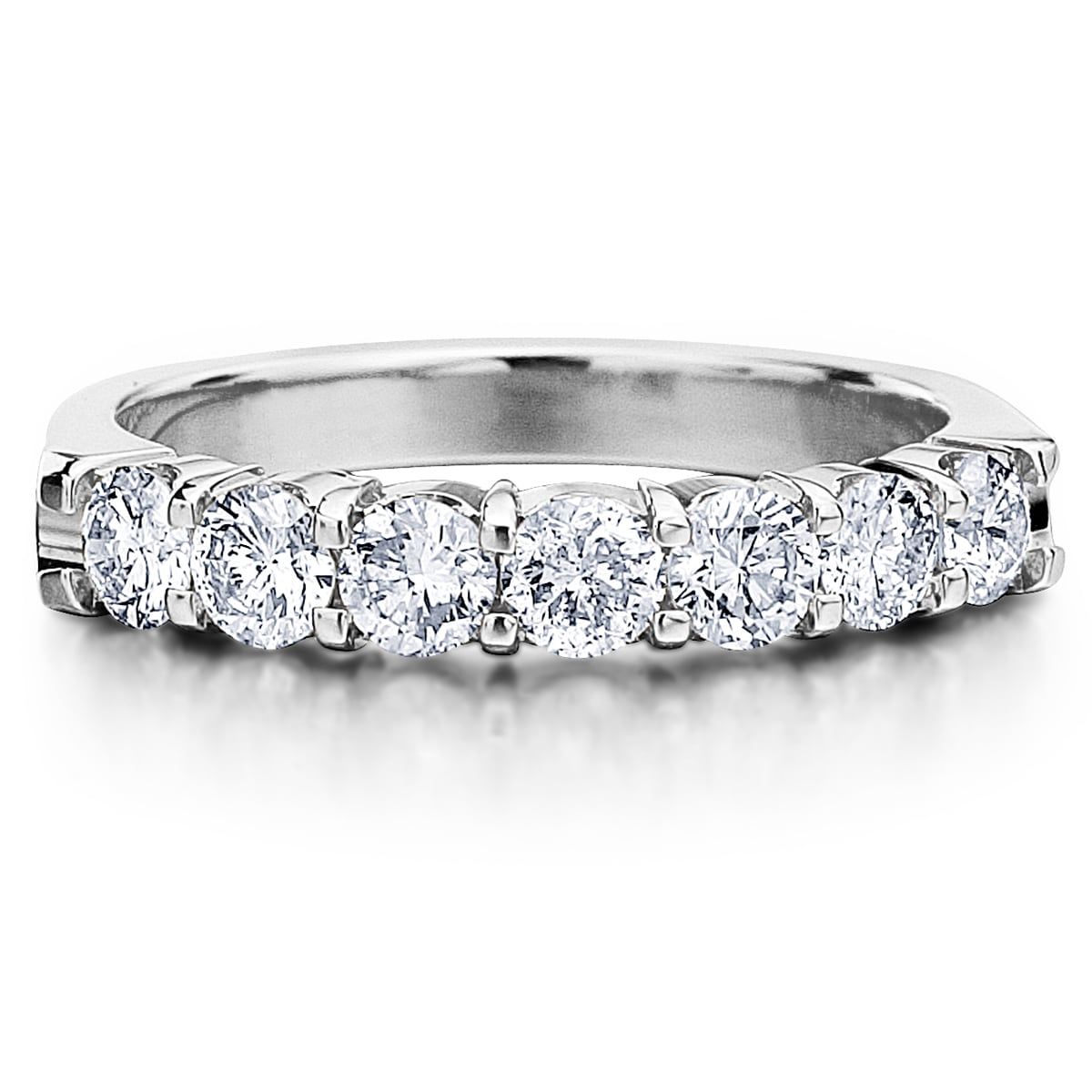 Amore Platinum 1ct Tdw 7 Stone Shared G Diamond Ring Free Shipping Today 9629465
