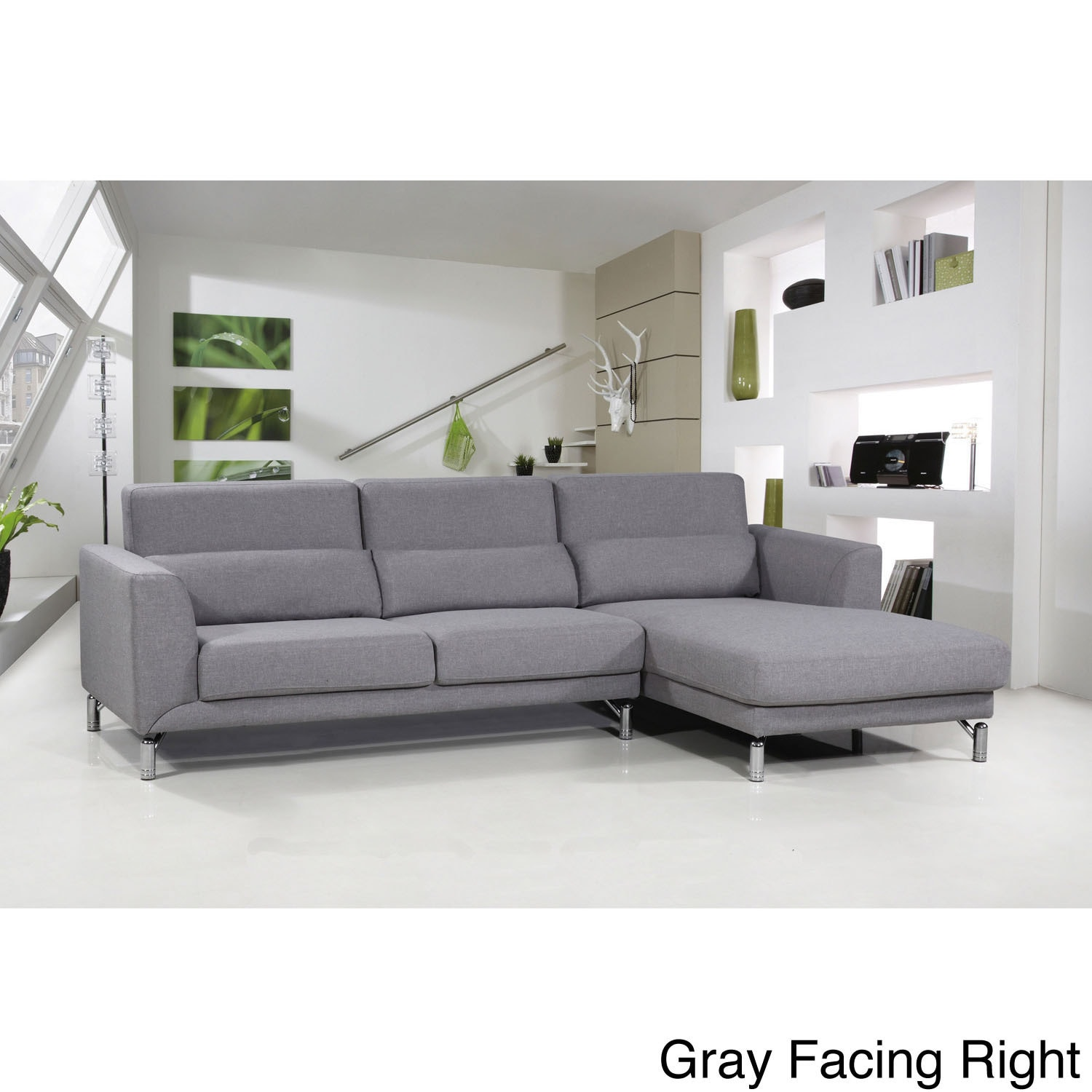 Shop aria fabric modern sectional sofa set free shipping today overstock com 9629481