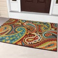 Carolina Weavers Indoor/Outdoor Santa Barbara Collection Floral Rainbow Multi Area Rug (3'10 x 5'5)