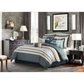 Madison Park Harlem Blue 12-piece Jacquard Comforter Set