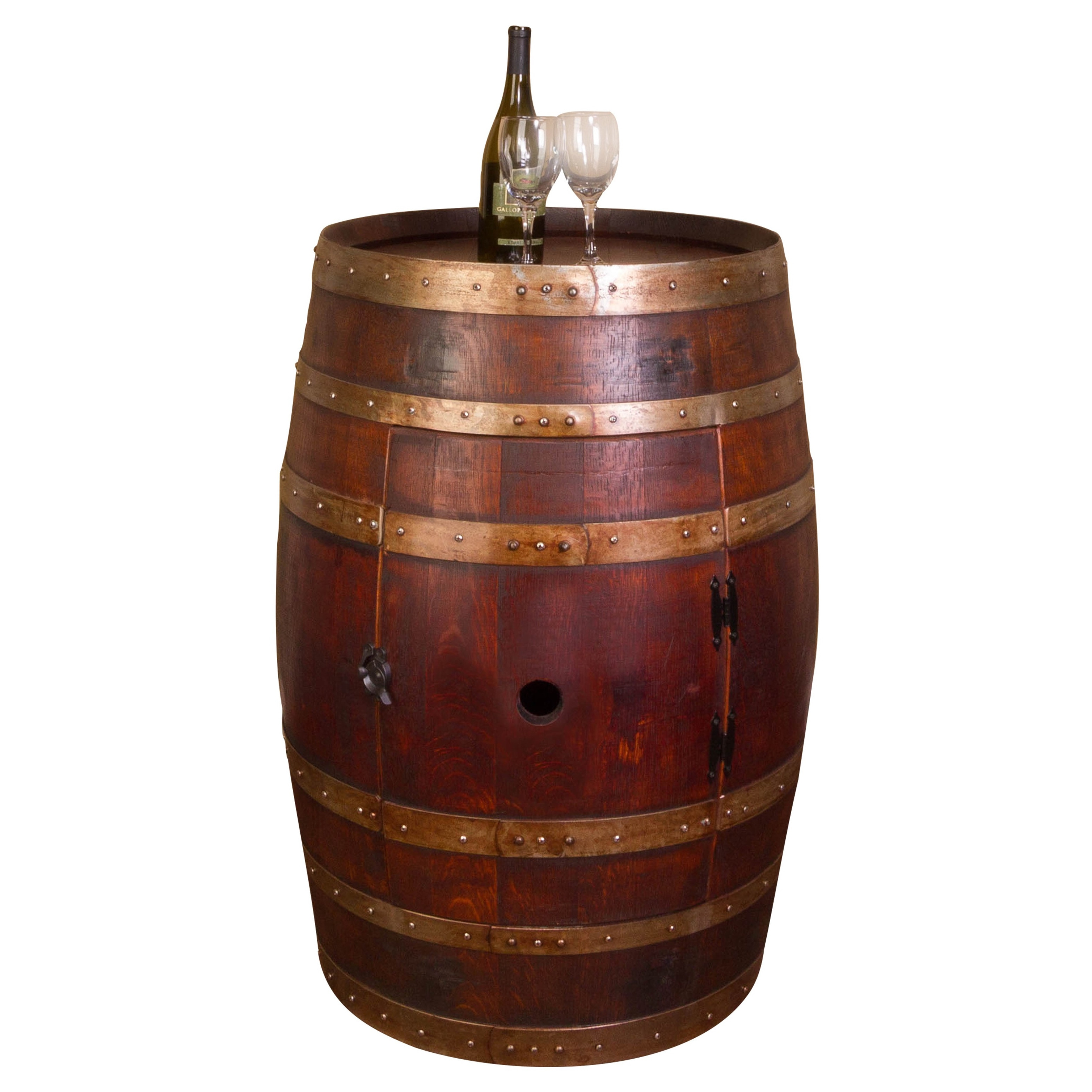 Whole Refinished Wine Barrel Cabinet - Free Shipping Today - Overstock.com  - 16816431