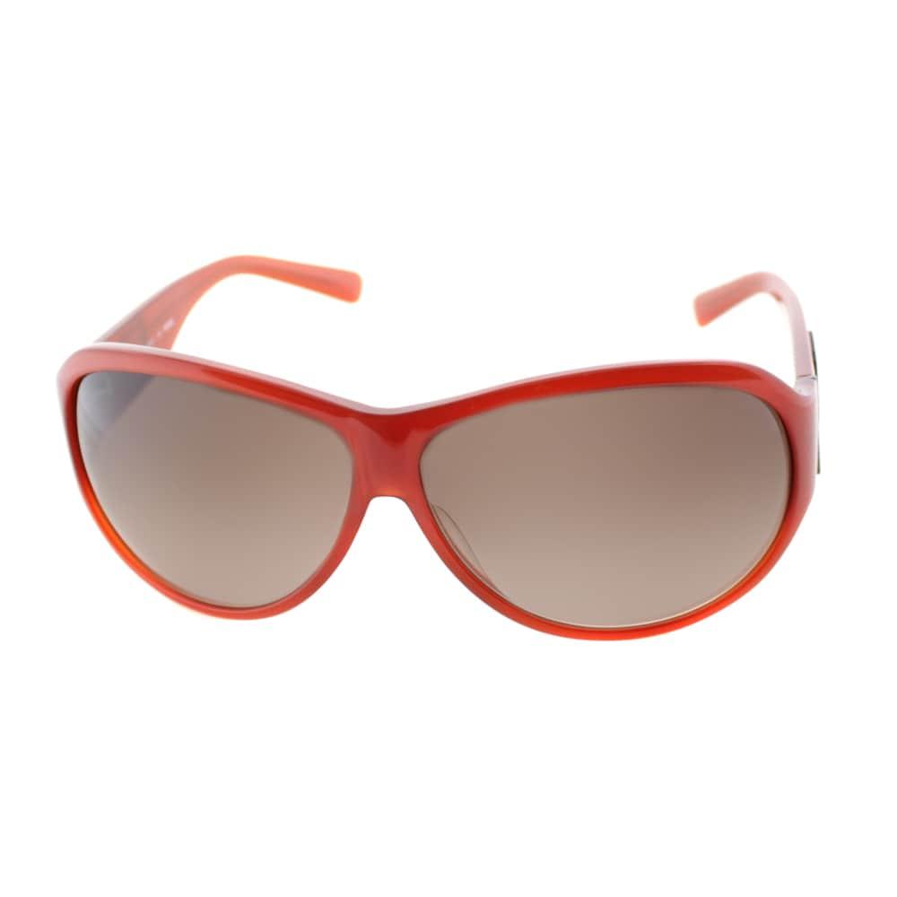 cfa3ce2982 Fendi Women s  FS 472M 639  Rusty Red Plastic Aviator Sunglasses