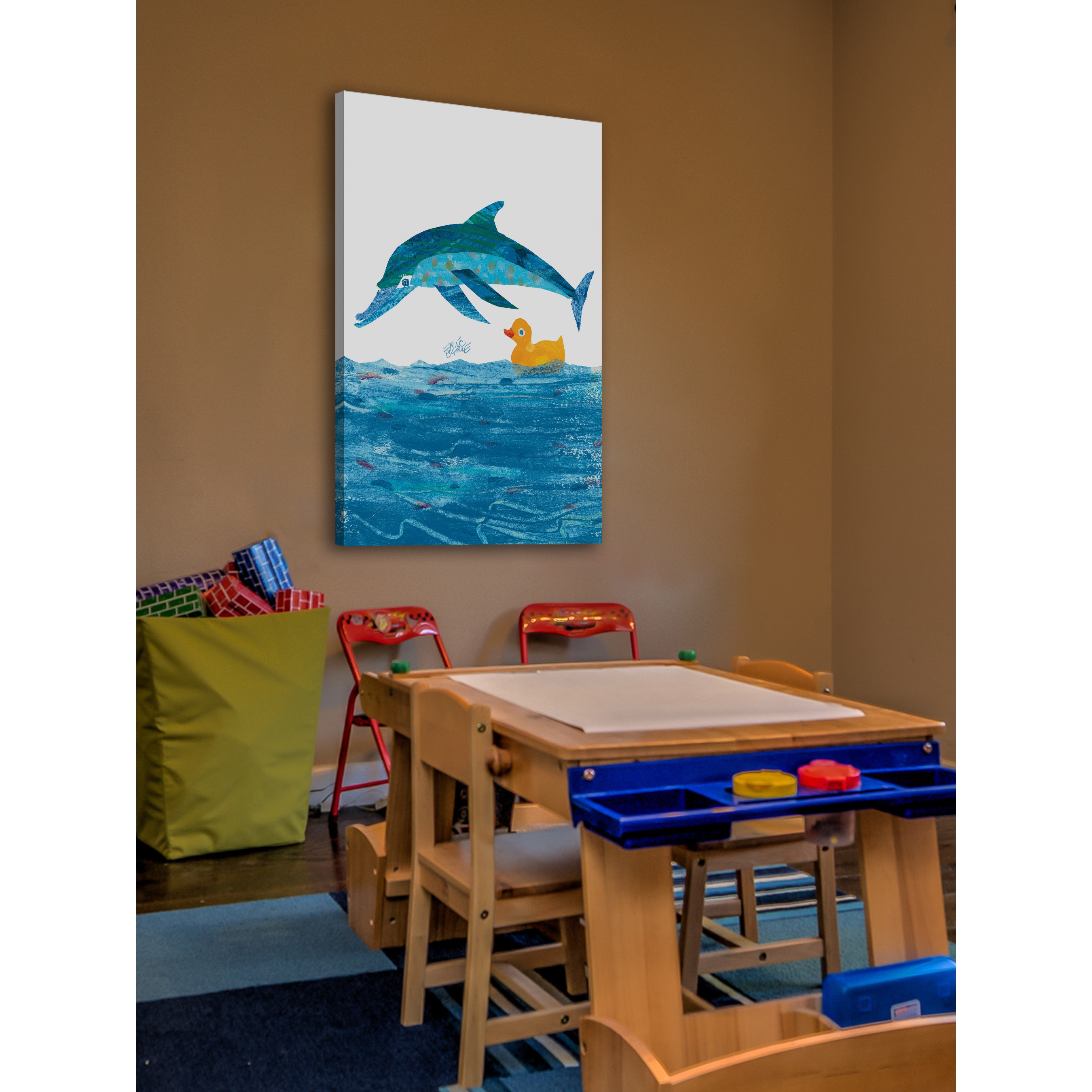 Shop Eric Carle 10 Little Rubber Ducks Character Art Dolphin Canvas ...
