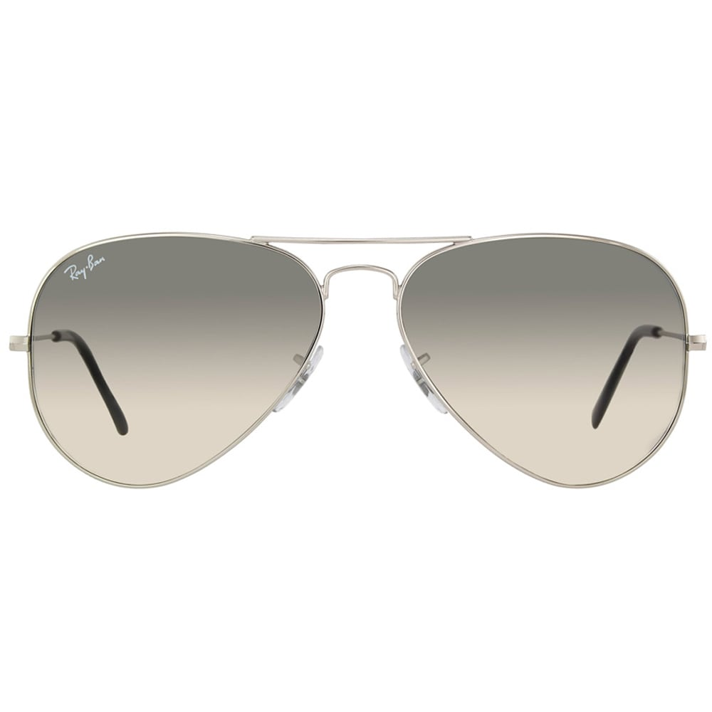 5c811f7a70 Shop Ray-Ban Aviator RB3025 Unisex Silver Frame Light Grey Gradient 58mm  Lens Sunglasses - Free Shipping Today - Overstock - 9632855