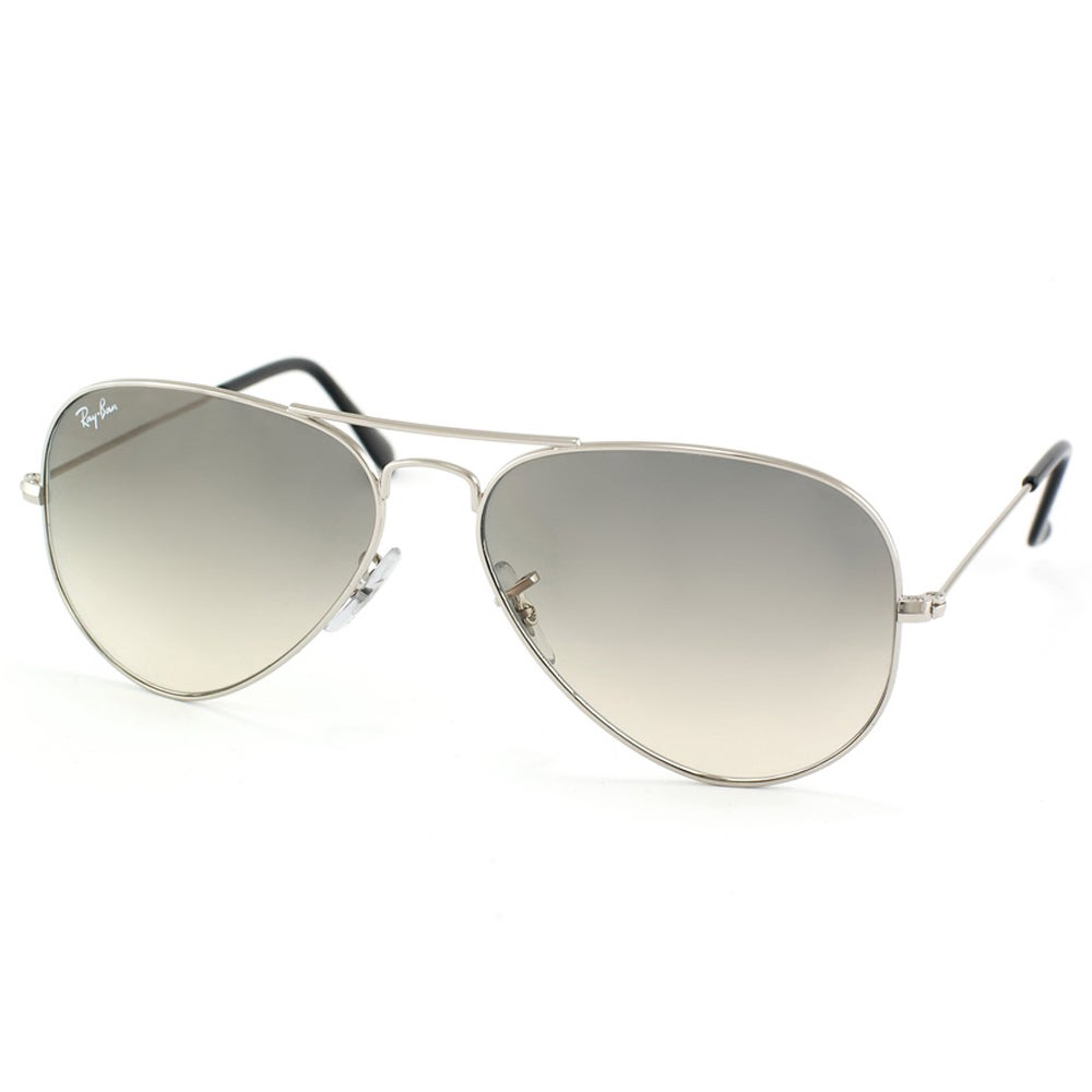7fbbe48396100 Shop Ray-Ban Aviator RB3025 Unisex Silver Frame Light Grey Gradient 58mm  Lens Sunglasses - Free Shipping Today - Overstock - 9632855