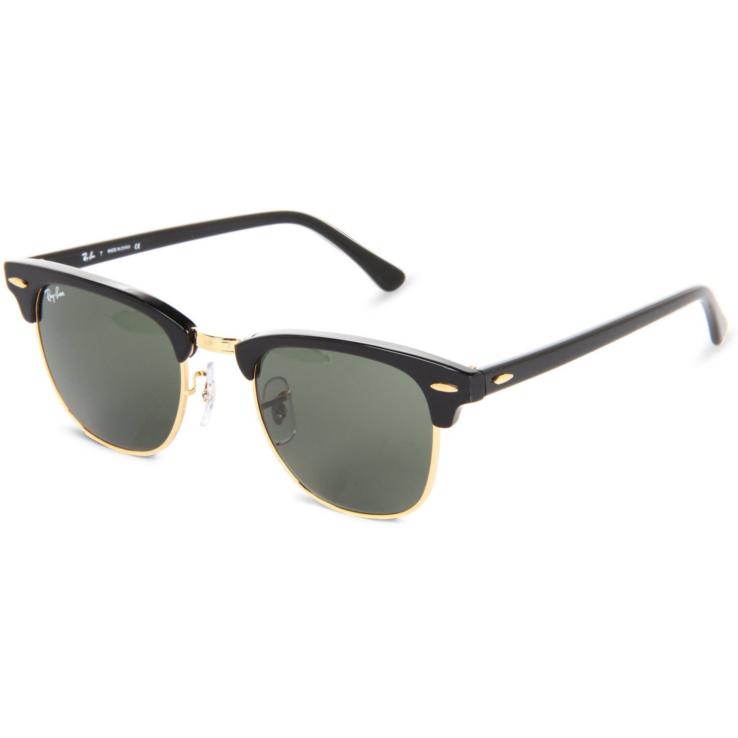 f771a64dfe5 Ray-Ban Clubmaster RB3016 Unisex Black Frame Green Classic Sunglasses