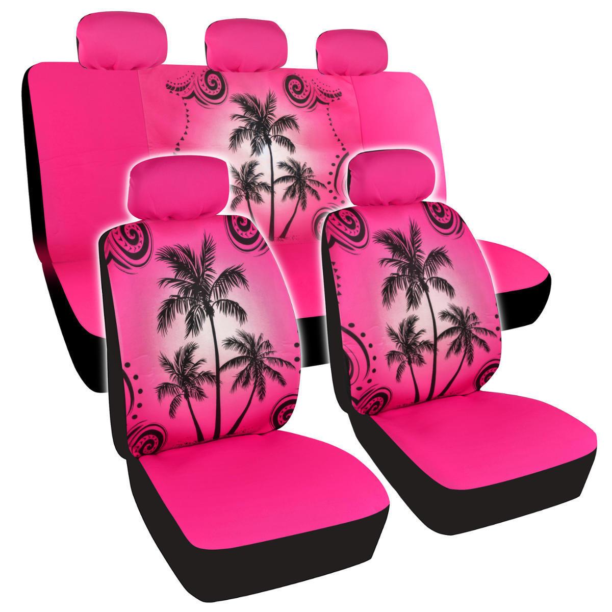 Shop BDK Palm Tree Design Car Seat Covers Full Set Universal Fit