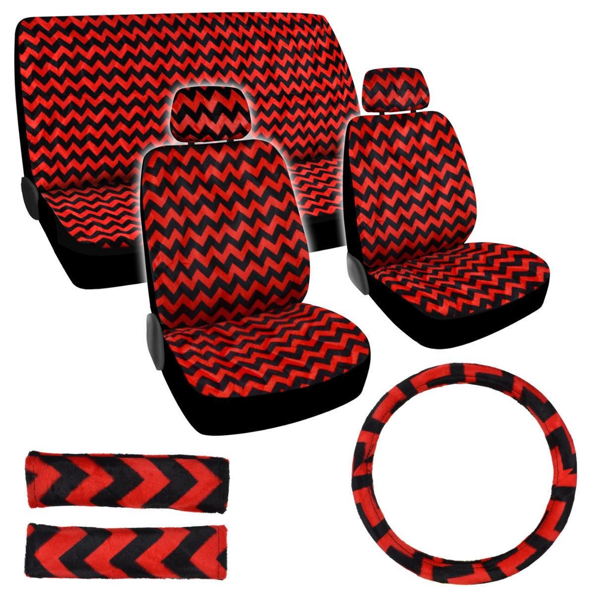 Shop BDK Chevron Design Car Seat Covers Full Set Universal Fit