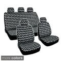 BDK Chevron Design Car Seat Covers Full Set (Universal Fit)