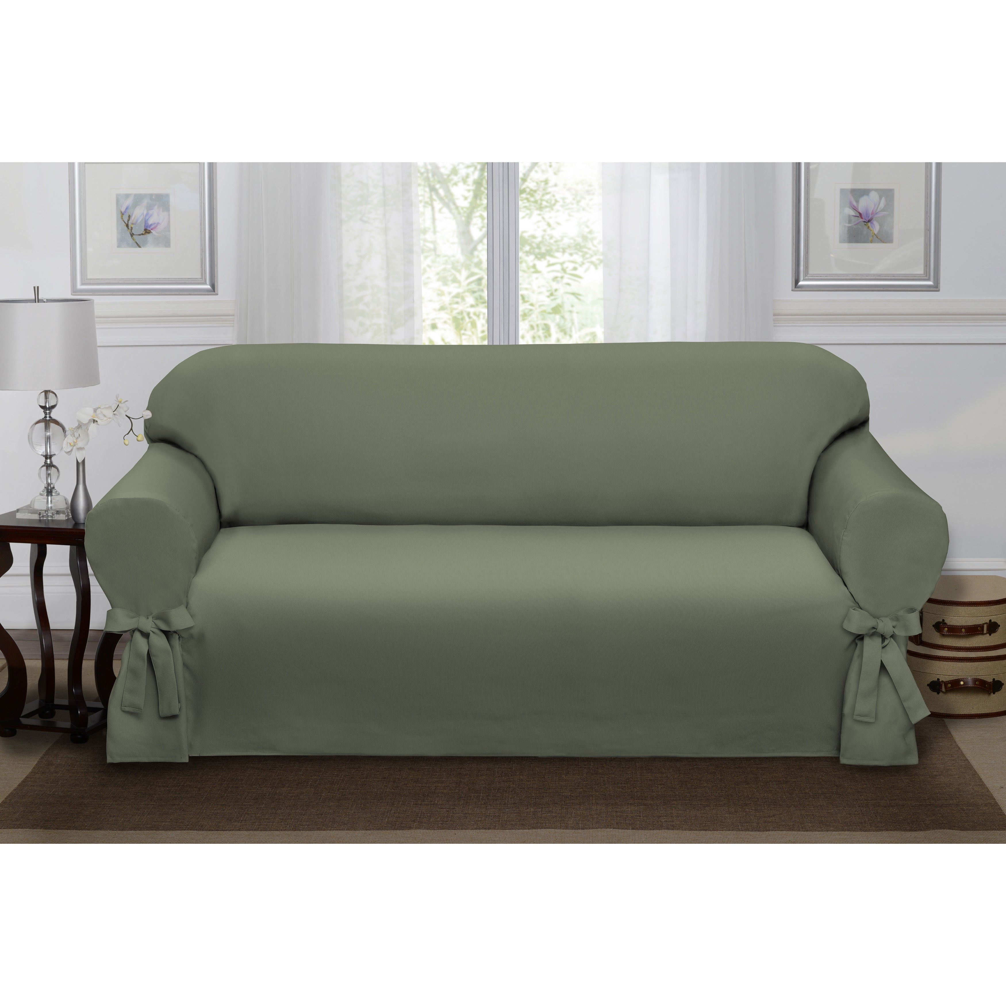 Sanctuary Lucerne Sofa Slipcover Free Shipping Today Overstock  ~ Turquoise Slipcover Sofa