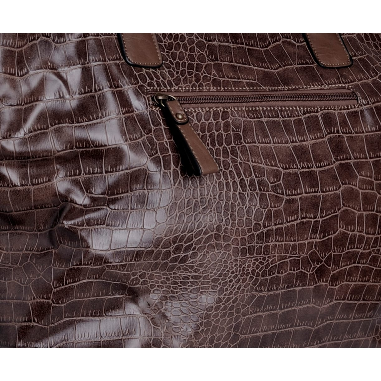 c242cc200dde Shop David Jones Women's Faux Crocodile Tote Bag - Free Shipping Today -  Overstock - 9641981