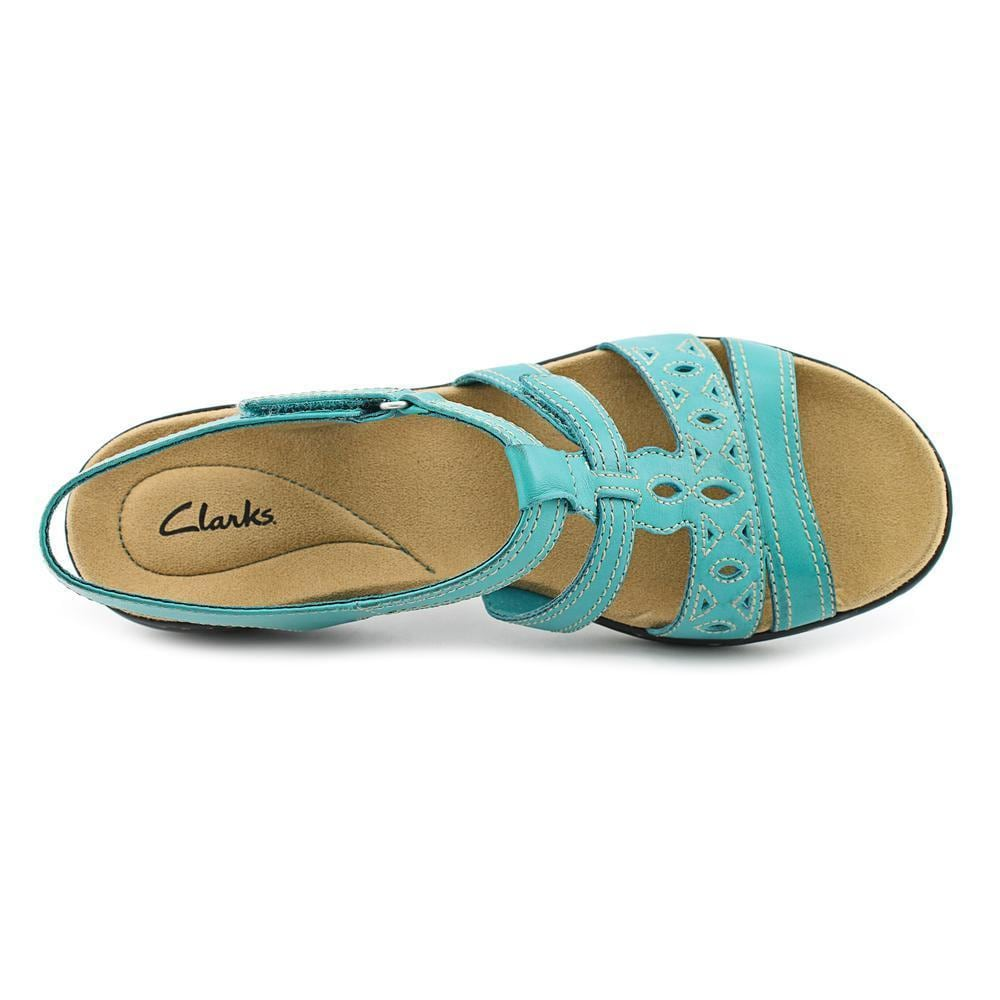 deaeb9e9215 Shop Clarks Women s  Leisa Apple Q  Leather Sandals - Free Shipping Today -  Overstock - 9642044