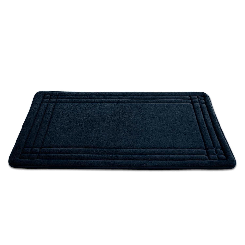 Shop Embossed Memory Foam Geoplex 21-inch by 34-inch Bath Mat - Free ...