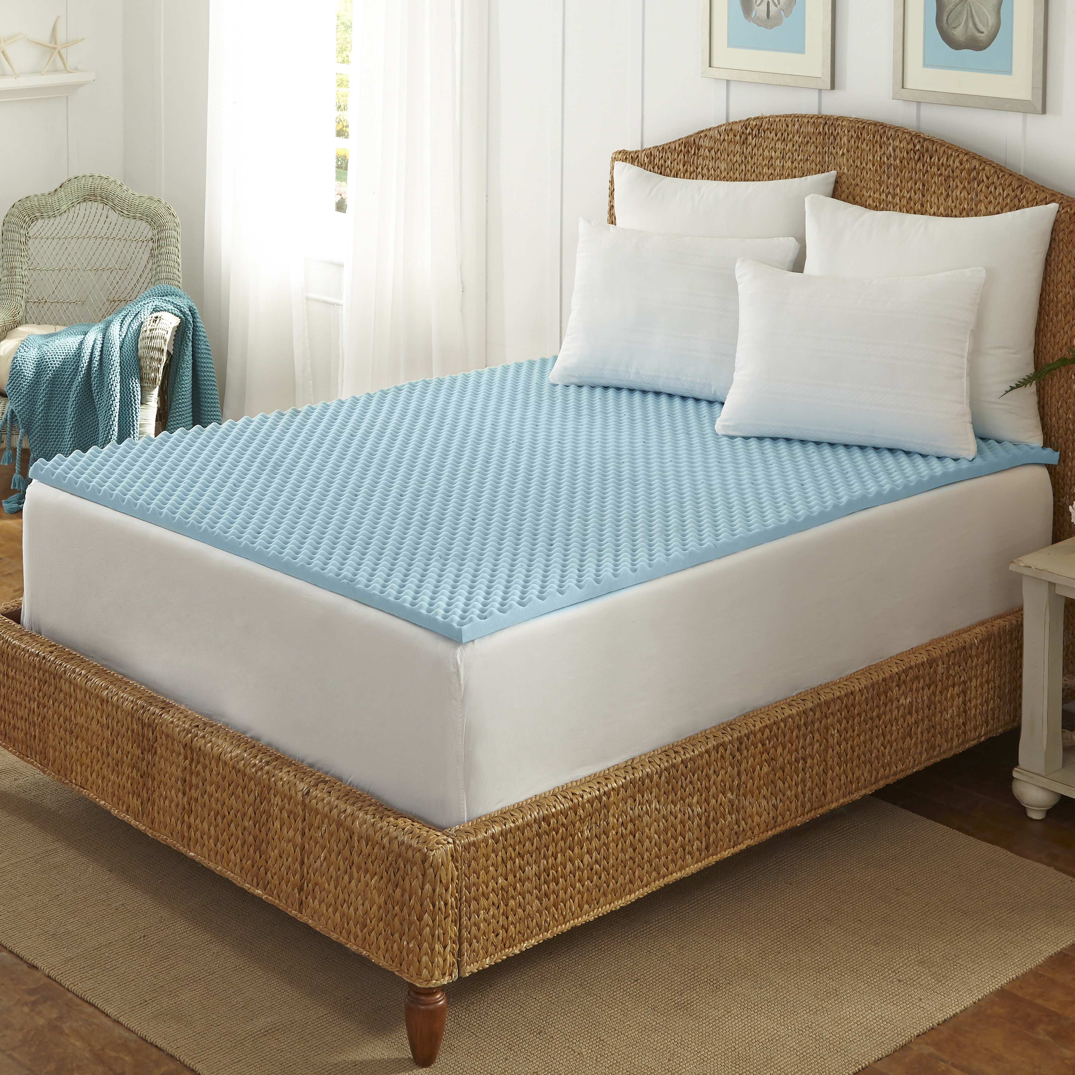 b48332d18ca1 Shop Arctic Sleep Cool Blue 1.5-inch Memory Foam Twin-size Mattress Topper  - On Sale - Free Shipping On Orders Over  45 - Overstock - 9643154