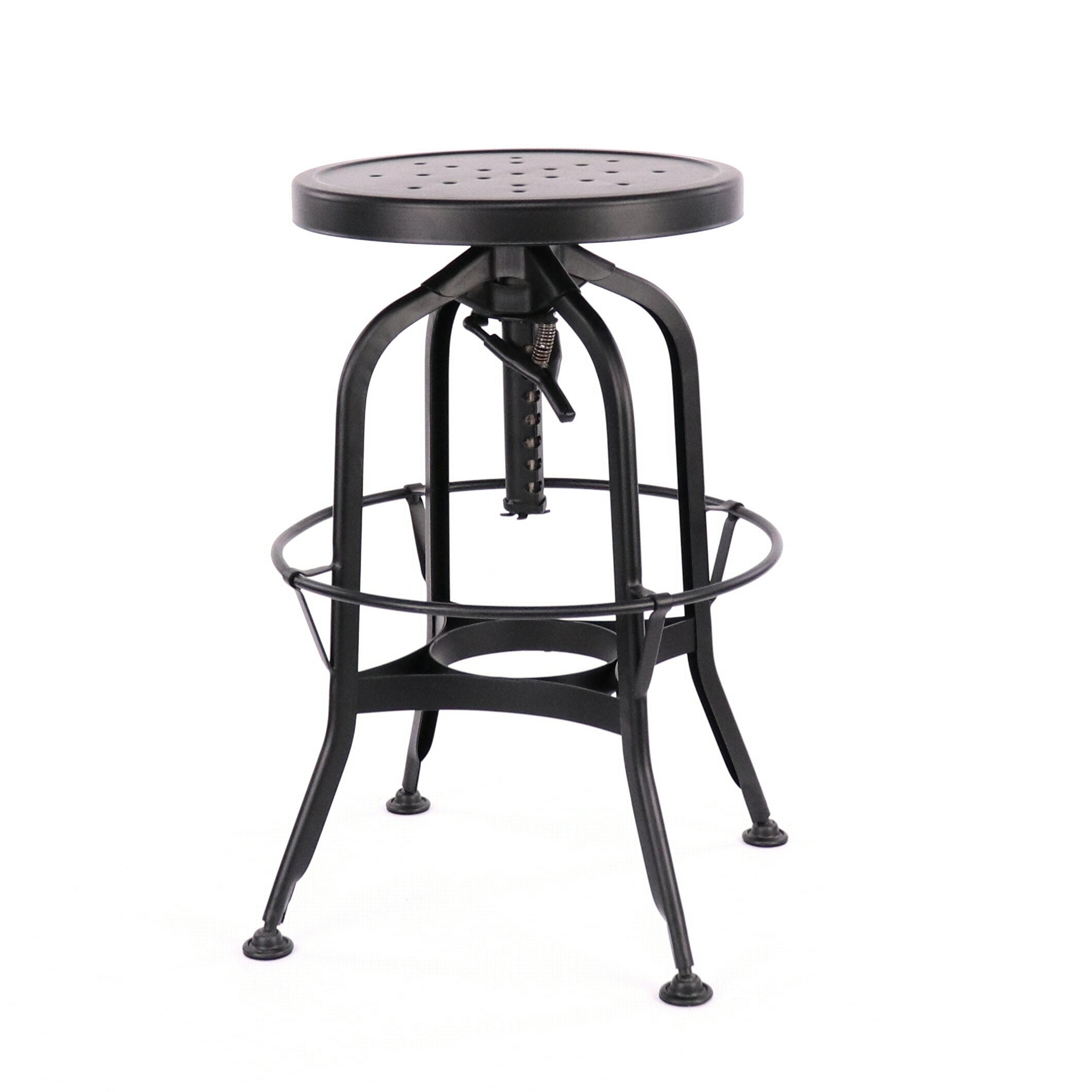 Shop Toledo Adjustable Black Steel Bar Stool 25 29 Inch Free