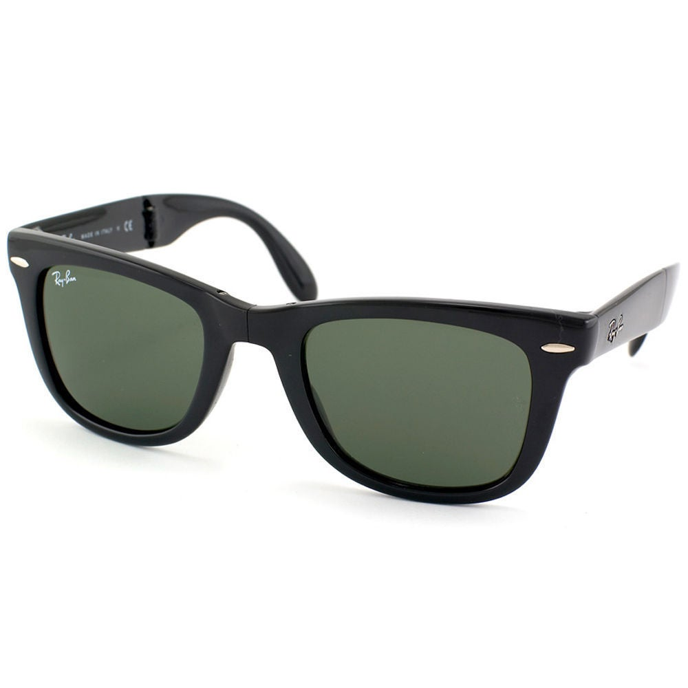 d7e9c9794f9 Ray-Ban Wayfarer Folding RB 4105 Unisex Black Frame Green Polarized  Sunglasses