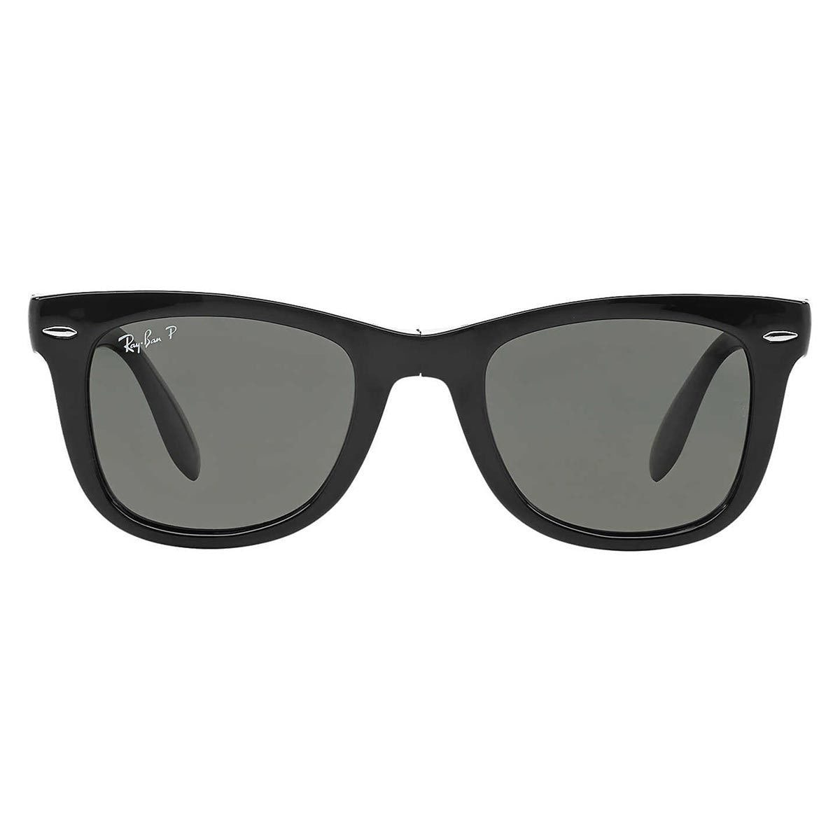 0aac74cfbcc Shop Ray-Ban Wayfarer Folding RB 4105 Unisex Black Frame Green Polarized  Sunglasses - Free Shipping Today - Overstock - 9643864