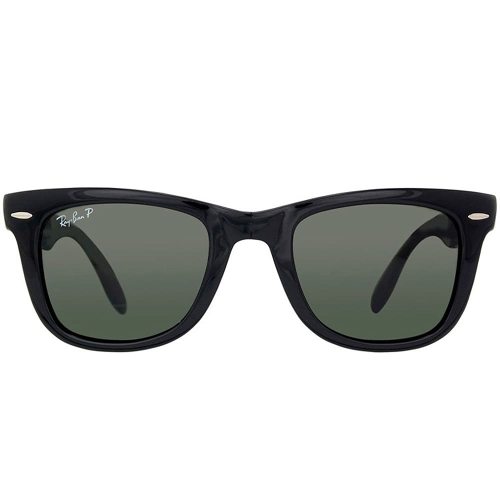 d0dca01c7e9a3 Shop Ray-Ban Wayfarer Folding RB 4105 Unisex Black Frame Green Polarized  Sunglasses - Free Shipping Today - Overstock - 9643864