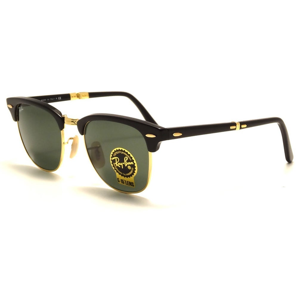 3f5d0c27632 Shop Ray-Ban Clubmaster RB2176 Unisex Black Gold Frame Green Lens Folding  Sunglasses - Ships To Canada - Overstock.ca - 9643865
