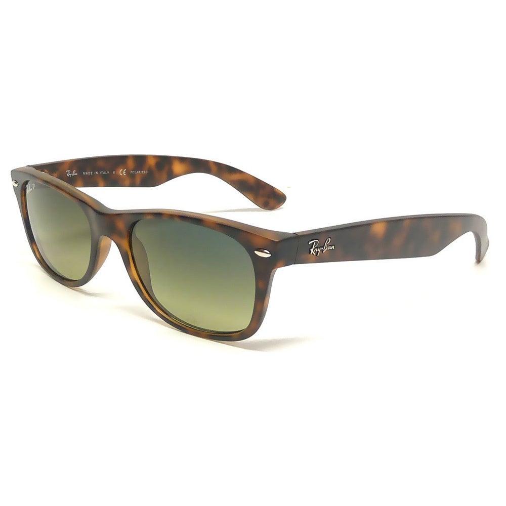 b41655293 Shop Ray-Ban RB 2132 New Wayfarer 894/76 Tortoise Green Polarized Sunglasses  - Free Shipping Today - Overstock - 9643869
