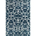 Grand Bazaar Polyester Karlin Area Rug in Midnight Blue (5' x 8')