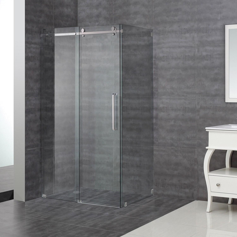 Shop Aston Moselle 48-inch Completely Frameless Sliding Shower ...