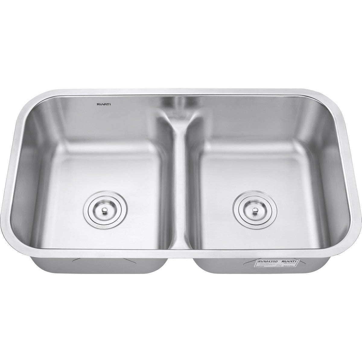 Kitchen Sinks Double Ruvati rvm43 low divide 5050 double bowl undermount 16 gauge ruvati rvm43 low divide 5050 double bowl undermount 16 gauge stainless steel 32 inch kitchen sink free shipping today overstock 16836330 workwithnaturefo