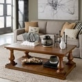 Densbury Traditional Rustic Natural Pine Coffee Table