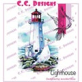 "DoveArt Cling Stamp 4""X2.5""-Lighthouse"
