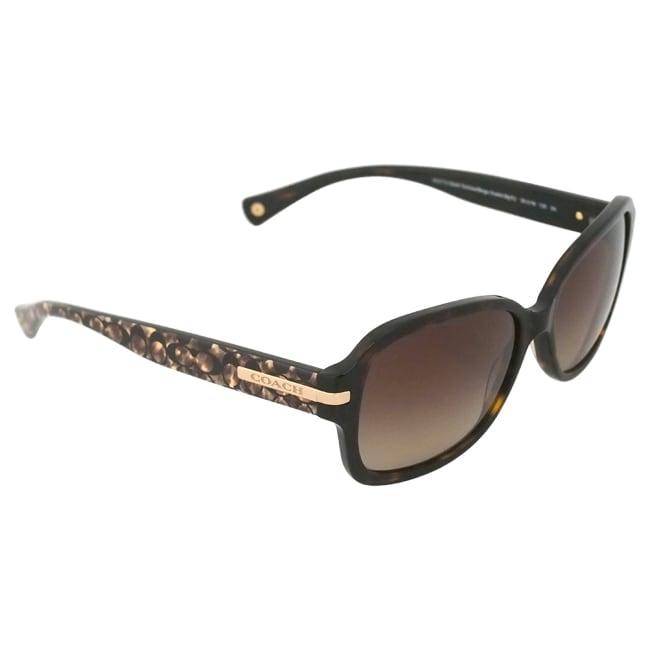 709e3abfe48 ... amazon shop coach womens amber hc8105 522713 ocelot sunglasses free  shipping today overstock 9657843 9b075 92811