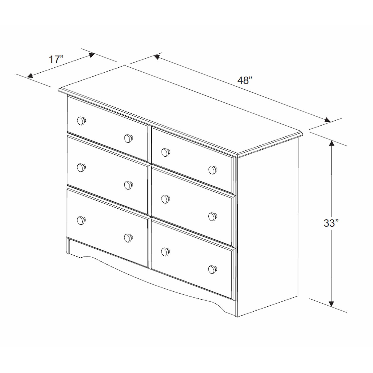 Solid Wood 6 Drawer Double Dresser By Palace Imports Free Shipping Today 9658521