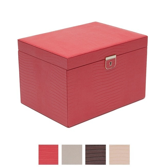 WOLF Palermo Large Leather Jewelry Box Free Shipping Today
