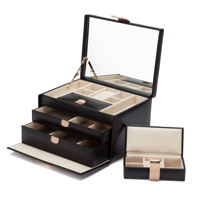 WOLF Chloe Medium Leather Jewelry Box Free Shipping Today