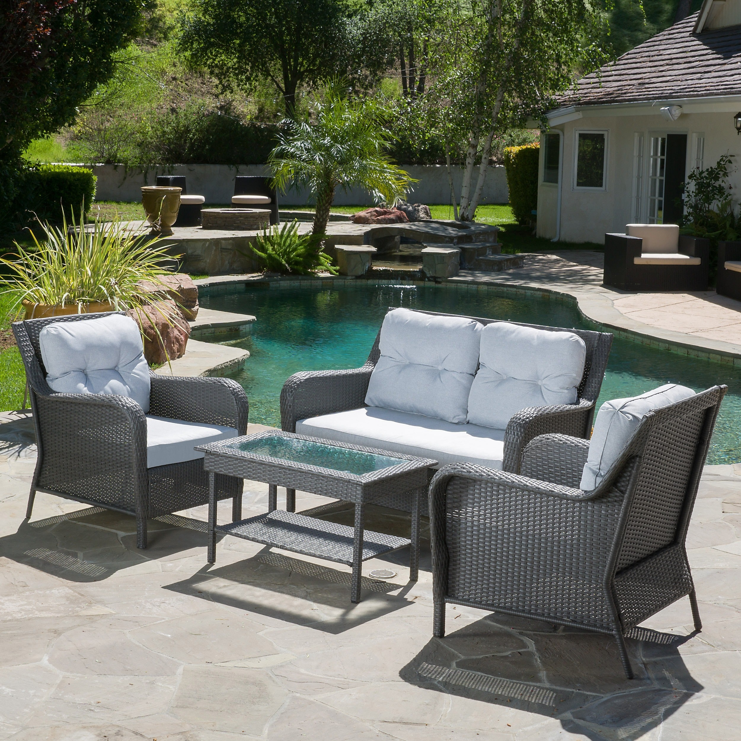 of furniture rustic chair full wicker chairs size tips patio conversation garden cleaning ventura outdoor piece set brown