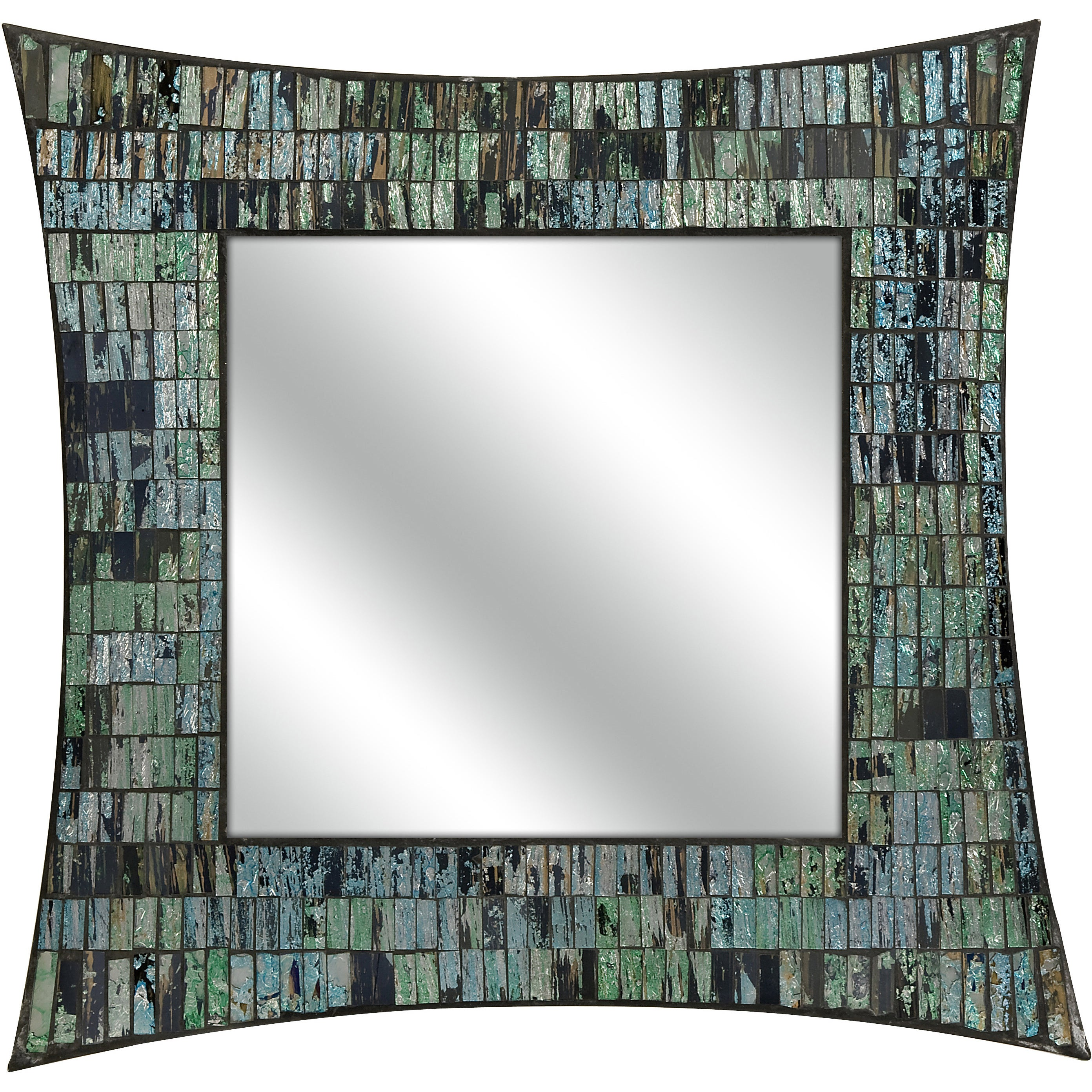 Aramis Mosaic Glass Wall Mirror - Free Shipping Today - Overstock.com -  16841754