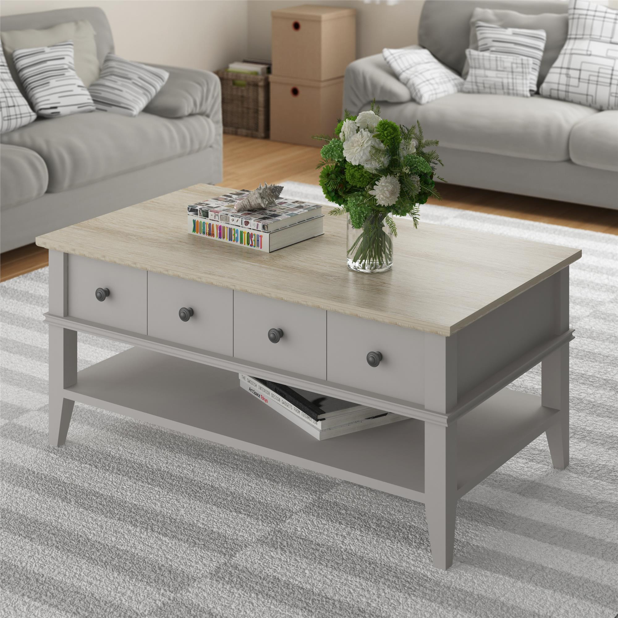 Shop Avenue Greene Turtle Creek Taupe/ Natural Coffee Table   On Sale    Free Shipping Today   Overstock.com   20186905