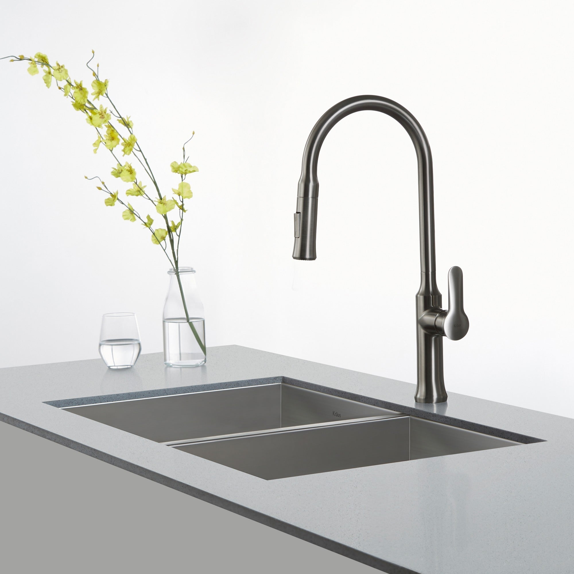 KRAUS Nola Single Handle Kitchen Faucet with Pull Down Dual